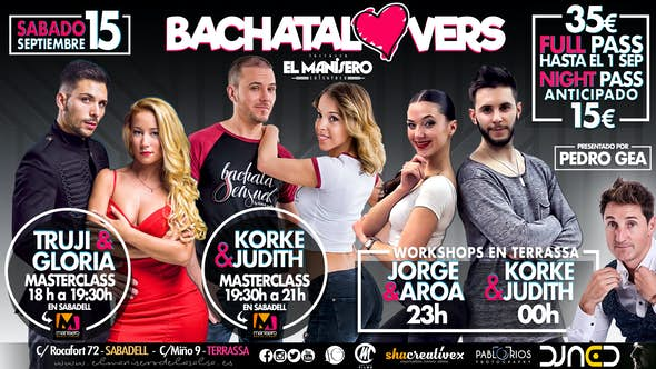 BACHATA LOVERS - Saturday 15th September