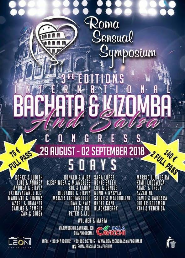 Roma Sensual Symposium 2018 (3ª Edición)