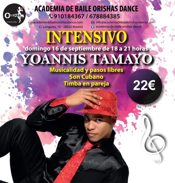 Workshops with Yoannis Tamayo in Orishas Dance Madrid