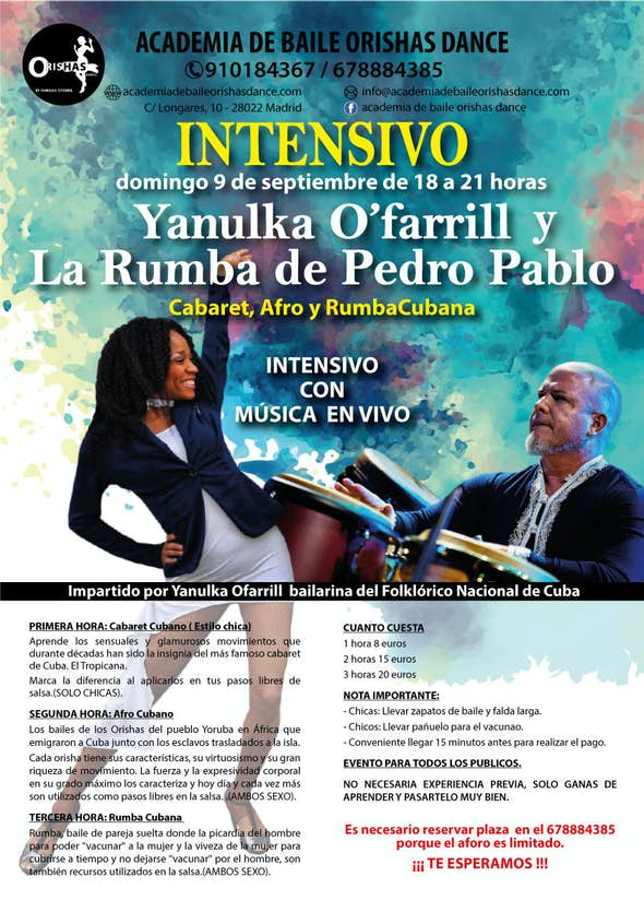 Workshops with yanulka Ofarril and Pedro Pablo's orchesta