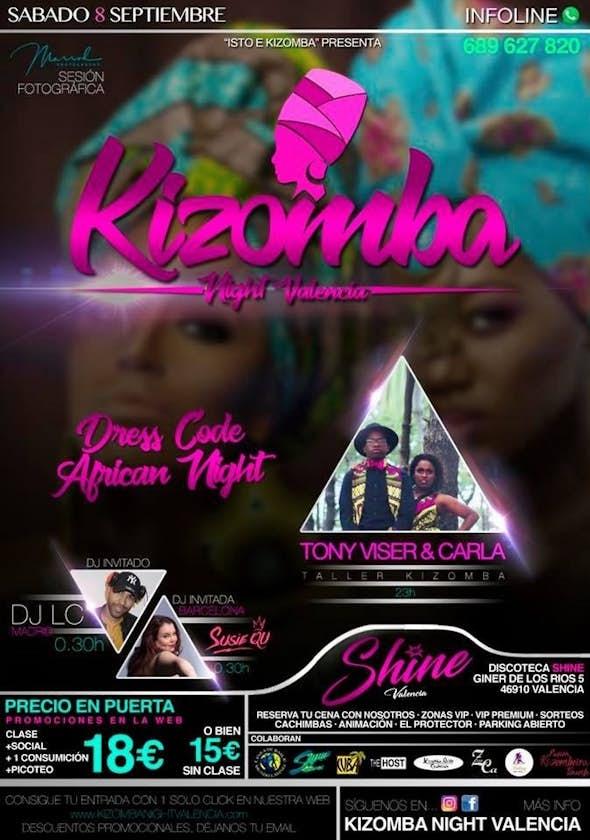 Kizomba Night Valencia - Sábado 8 Septiembre