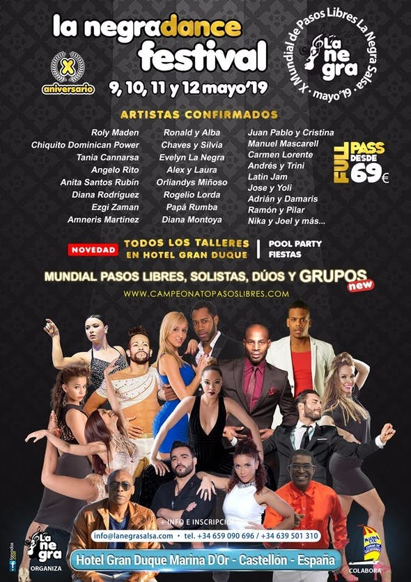 "La Negra Dance Festival 2019 (X Footwork World Championship ""La Negra Salsa"")"