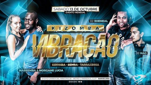 Kizomba Vibração Night - Fiesta Mensual Sábado 13 de Octubre