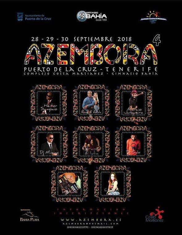AZEMBORA 4 Tenerife - 28, 29 y 30 de Septiembre de 2018