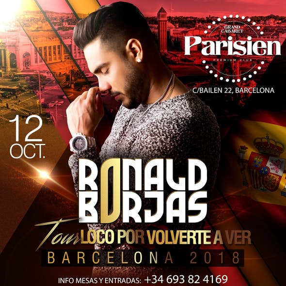 Ronald Borjas in concert in Barcelona - October 12, 2018
