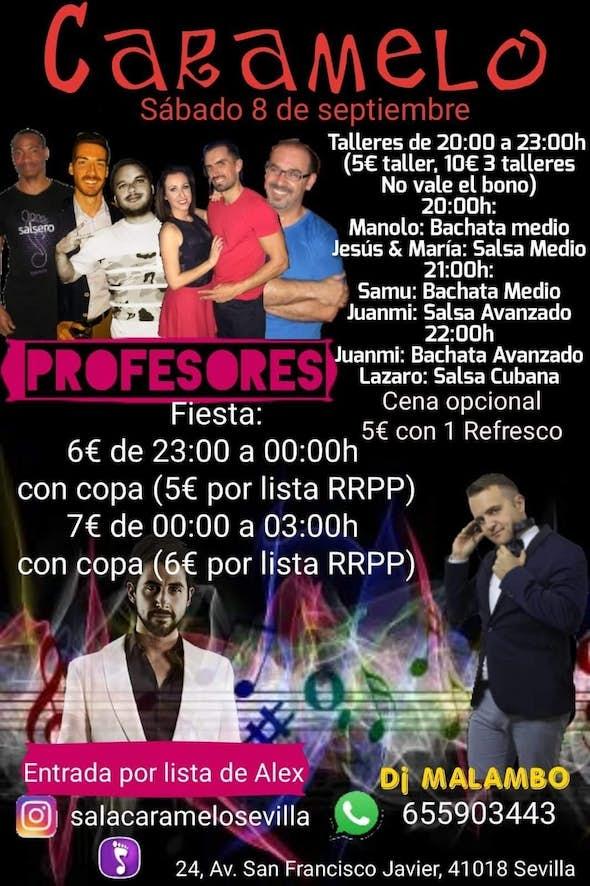 Talleres y fiesta en El Caramelo Sevilla - Sábado 8 de Septiembre 2018
