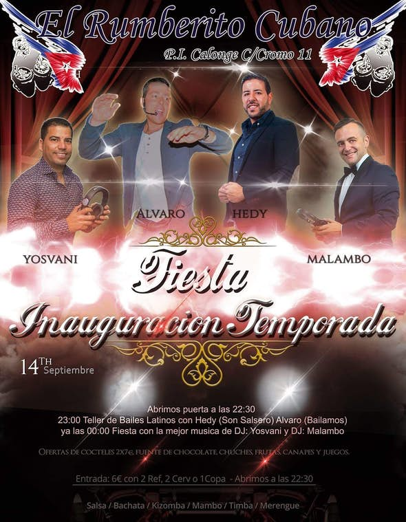 Party at El Rumberito Cubano - Friday, September 14