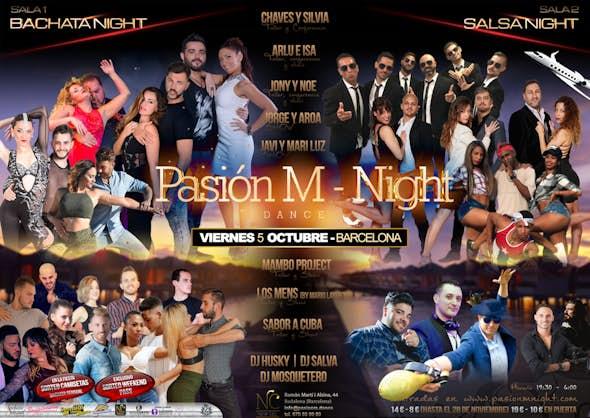 Pasión M Night - Talleres + Fiesta el 5 de Octubre en Barcelona