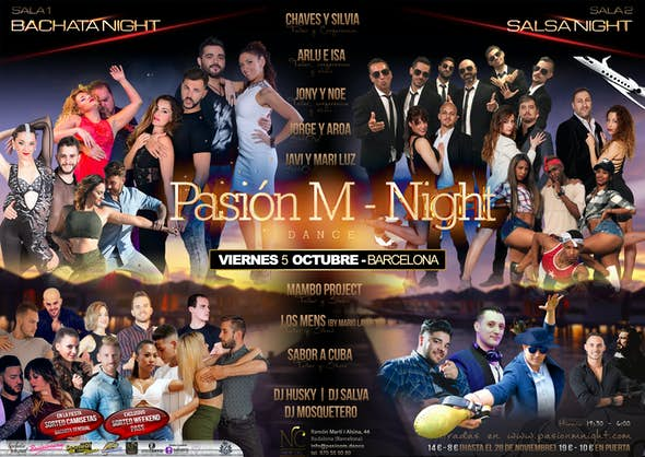 Pasión M Night - Workshops + Party on October 5th in Barcelona
