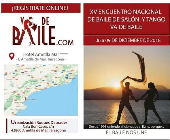 XV Encuentro Nacional de Baile de Salón y Tango VA DE BAILE 2018