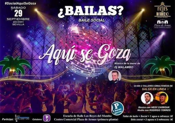 Fiesta Aquí se Goza - Baile social el Sábado 29 de Septiembre