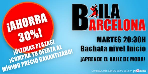 DEAL! Bachata classes for begginers (Limit until October 9)