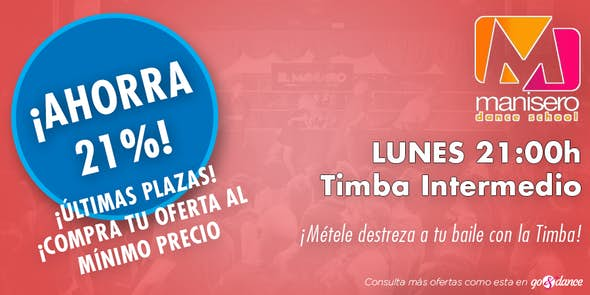 DEAL! Timba classes for intermediate (Limit until October 8))