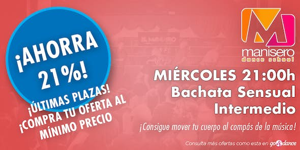 DEAL! Sensual Bachata classes for intermediate (Limit until October 10)