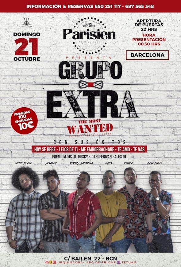GRUPO EXTRA en concierto Barcelona - Gran Cabaret Parisien - 21 Octubre 2018