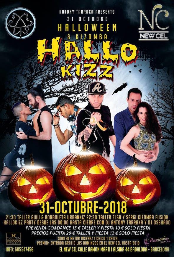 HalloKizz - Halloween Kizomba Party - 31 Octubre en el New Cel