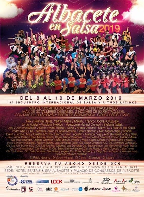 Albacete en Salsa 2019 - Encuentro Internacional de Salsa y Ritmos Latinos (10ª Edición)