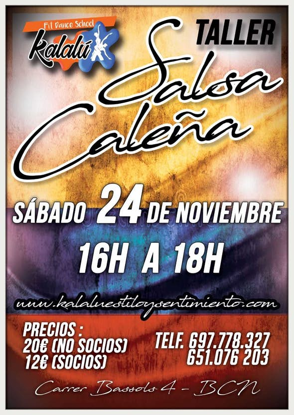 WORKSHOP COLOMBIAN SALSA STYLE (CALI)