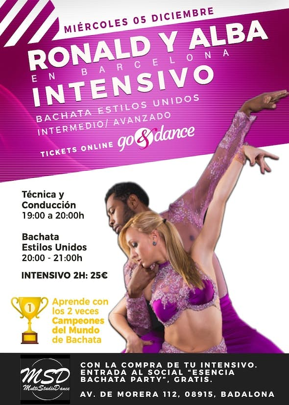 Intensive Bachata with Ronald and Alba - Barcelona, December 5th 2018