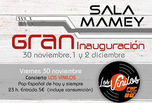 "Ticket for concert ""Los Vinilos"". Friday 30/11/18"
