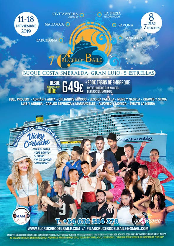 7º Crucero del Baile (Edición Otoño) - del 11 al 18 Noviembre 2019