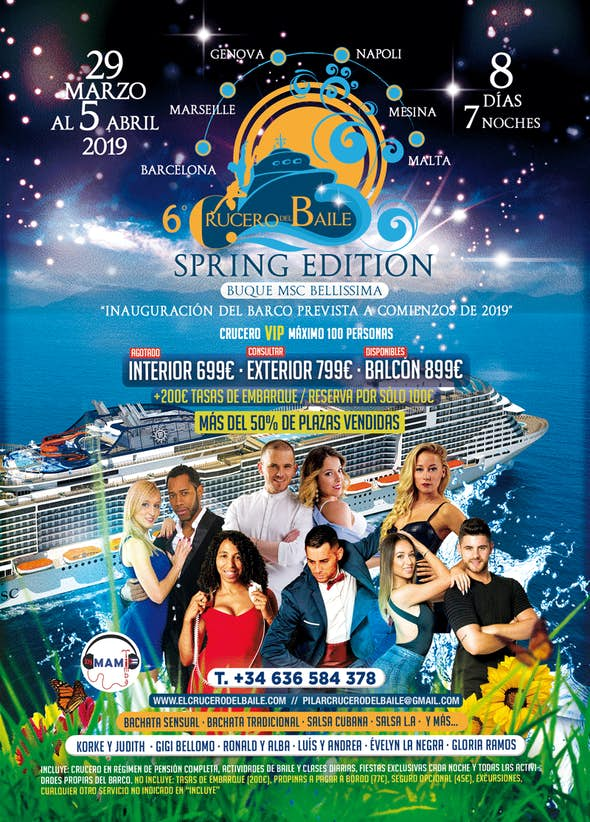6th Crucero del Baile (Spring Edition) - from 29 of March to 5 April 2019