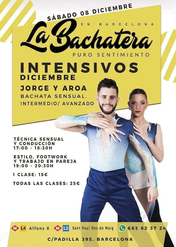 (CANCELLED) Bachata workshop with Jorge and Aroa in Barcelona - December 8th 2018