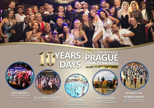 Prague Zouk Congress 2019 10th anniversary – 10 years, 10 days