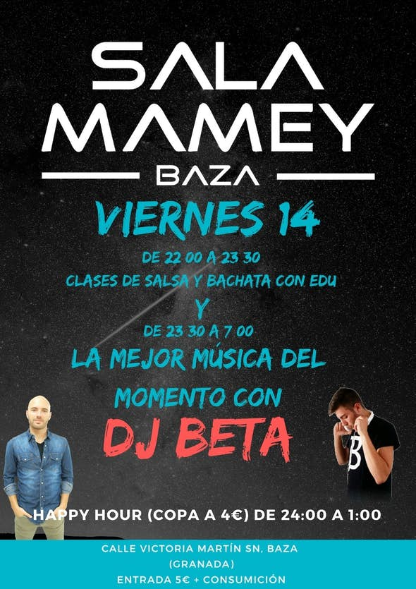 Clases de salsa y bachata con Edu + DJ Beta