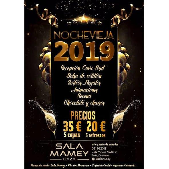 Cotillón Nochevieja 2019 en Sala Mamey | Bono 5 copas