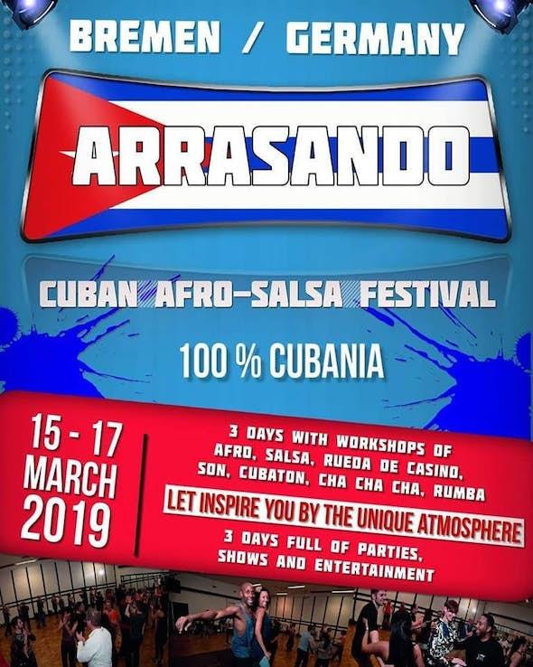 Arrasando Cuban Afro-Salsa Festival 2019