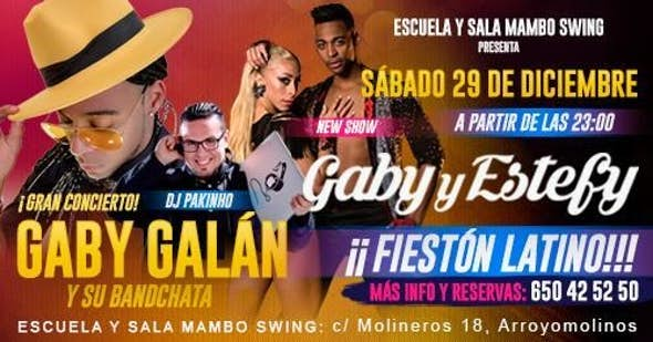 Latin Night Party, Gaby y Estefy y su Bandchata. 29th December