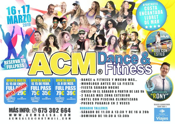 ACM Dance and Fitness - 16 y 17 de Marzo 2019