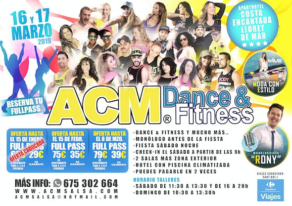 ACM Dance and Fitness - 16th and 17th March 2019