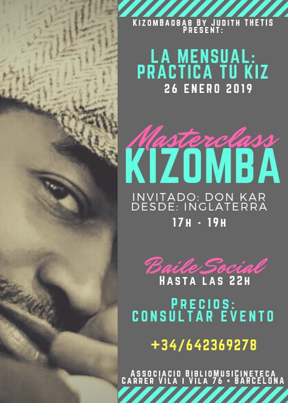 MASTERCLASS • KIZOMBA • with DON KAR from ENGLAND - 26 January 2019