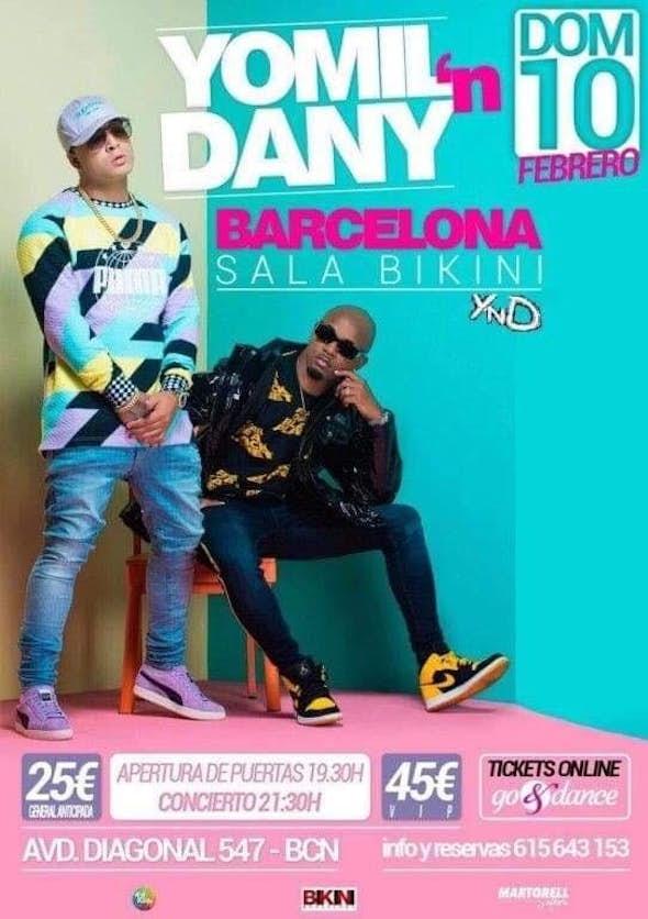 Concierto de Yomil y el Dany en Sala Bikini Barcelona - 10 de Febrero de 2019