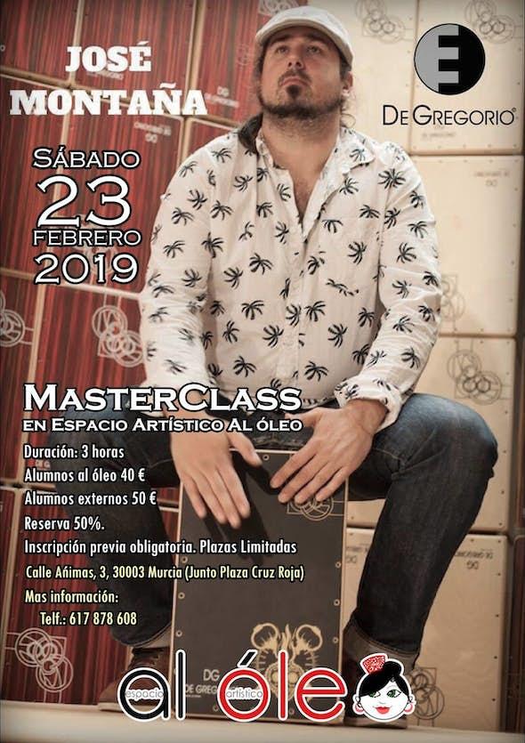 MasterClass of Cajón with José Montaña