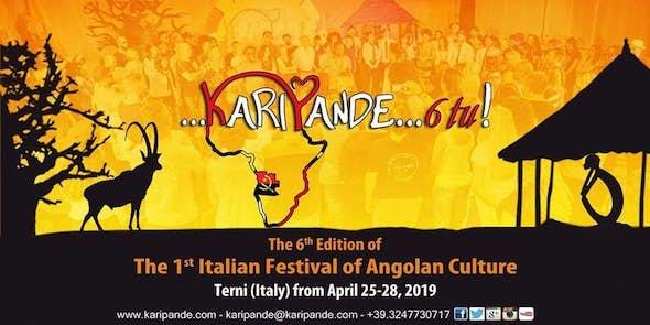 Karipande 2019 - 1r Festival Italiano de la Cultura Angoleña (6ª Edición)