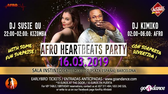 Afro Heartbeats Party - 16th March 2019
