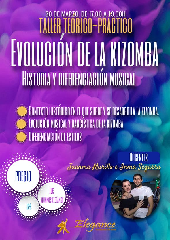 Workshop: Evolution of the Kizomba. History and musical differentiation - Academia Elegance (Alicant