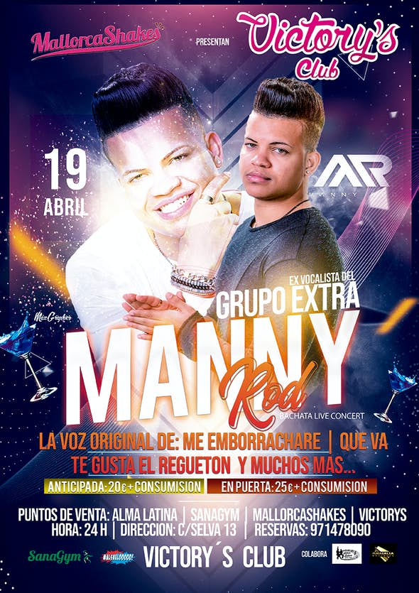 Manny Rod Concert in Victory's Club Mallorca - 19th April 2019