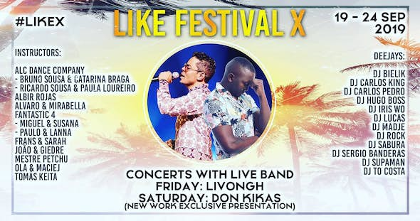 Like Festival X - Lisbon's International Kizomba Energy Festival 2019