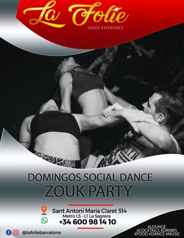 Zouk Party Social Dance - La Folie (Barcelona)