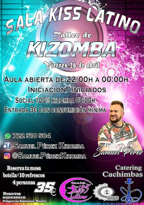 Party 100% Kizomba en Sala Kiss Latino (Huelva)