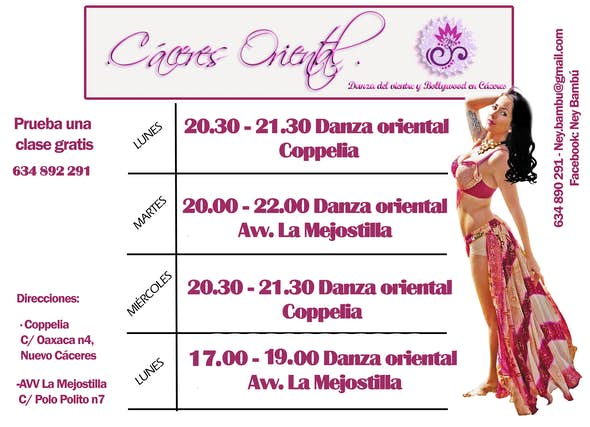 Bellydance classes at Coppelia Cáceres