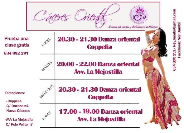 Clases de Danza del Vientre en Coppelia Cáceres