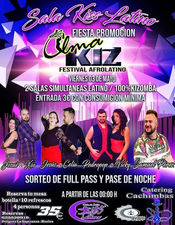 Sala Kiss Latino - Viernes 3 de Mayo 2019