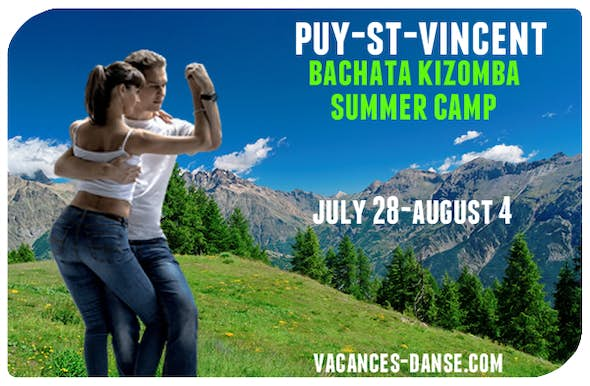 Puy Saint Vincent Bachata Kizomba Summer Camp 28 July to 4 August 2019