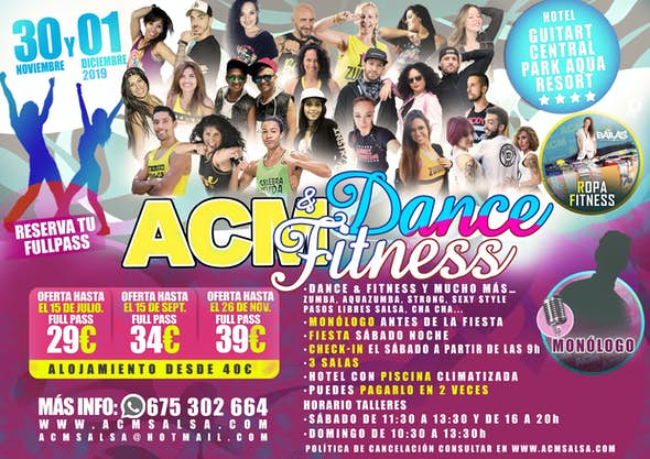 ACM Dance and Fitness - 30th Noember to 1st December 2019