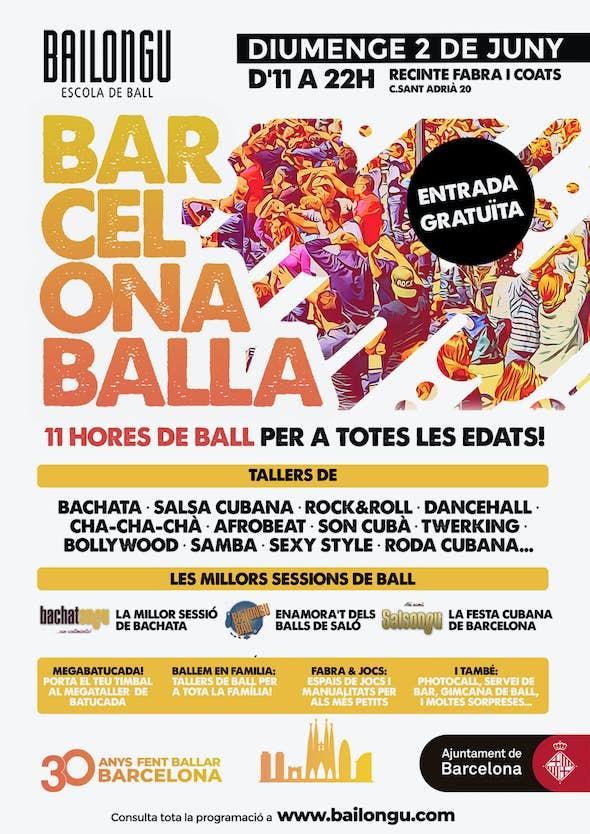 Barcelona Balla - 11 Horas de baile gratis - 2 de Junio 2019